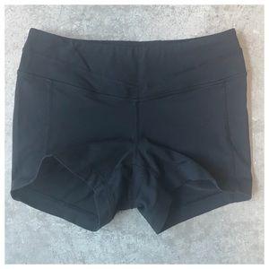 Lucy Hatha Bikram Yoga Shorts Spandex Black Sz XS